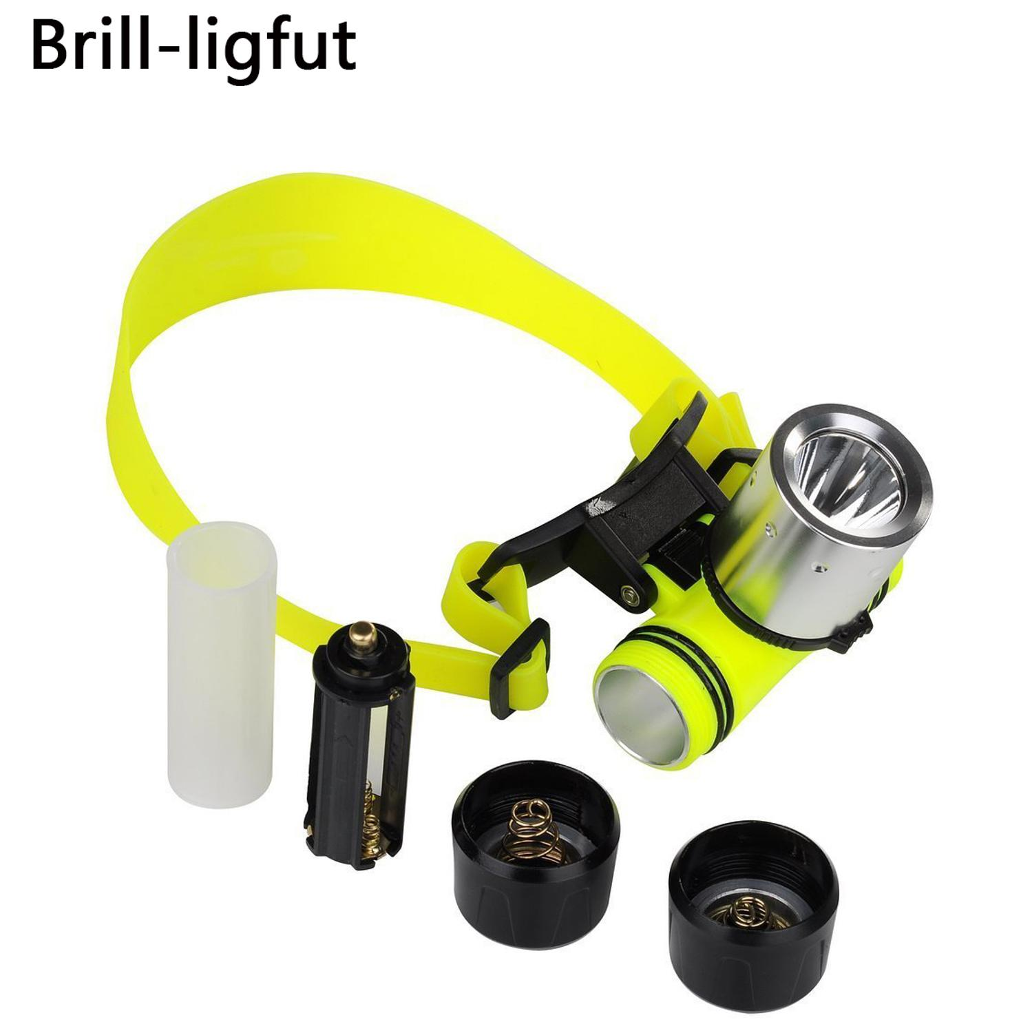 Waterproof 1800LM T6 diving swimming led Headlamp 3 Modes underwater headlight fishing lamp Flashlight Torch Use 18650 Battery