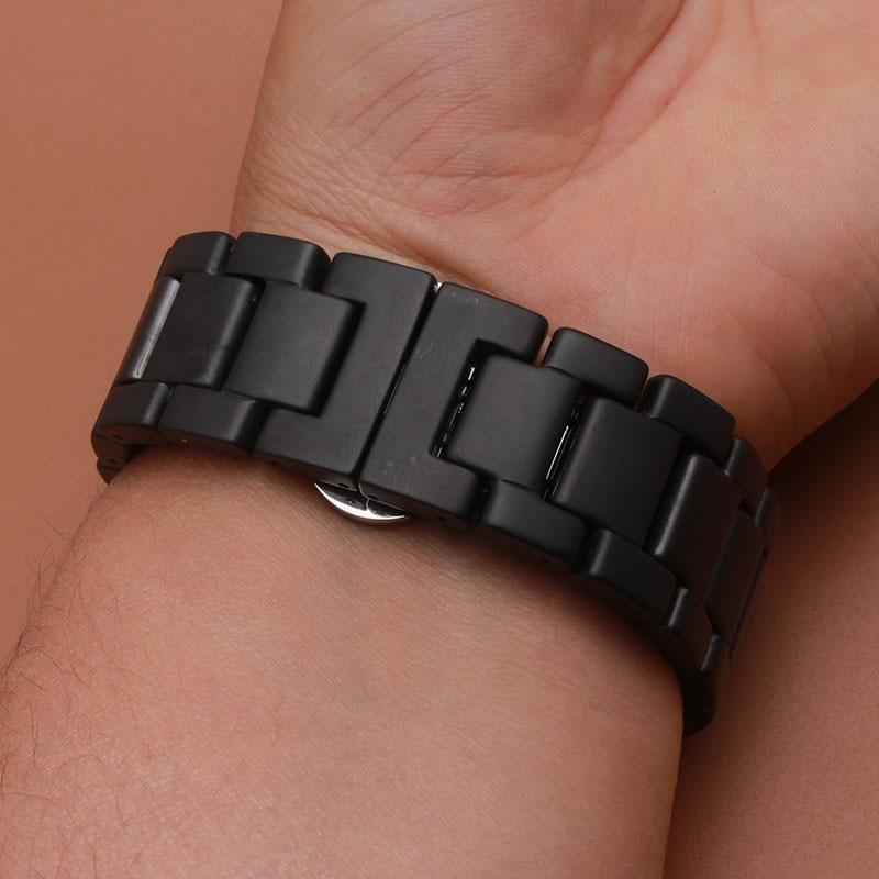 Matte Sort Armbåndsur av keramiske eller polerte klokker for smarte - Tilbehør klokker - Bilde 2