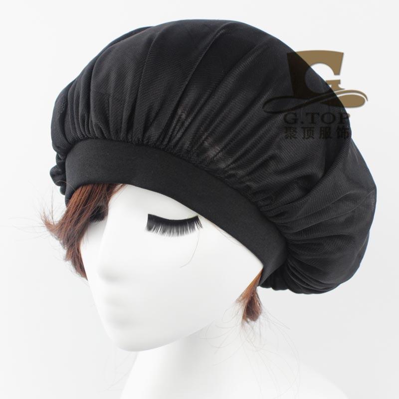 2016 New Fashion Women Donna Sleep Cap Wide Band Satin Bonnet Cap Soft Comfortable Turban Beanie Hat