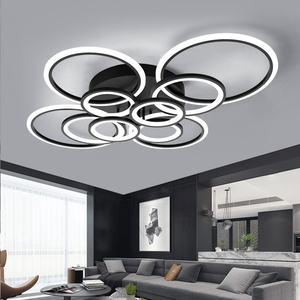 Image 2 - Светодиодный потолочный светильник VVS Современный Простой Круглый Модные круглые светодиодный светильник гостиная столовая кабинет спальня