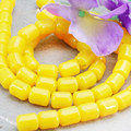 Hot Sale Imitation Beeswax Jewelry Stone Loose Beads Yellow Opaque Resin Accessories DIY Beads 8*10mm For Women Girls Gift