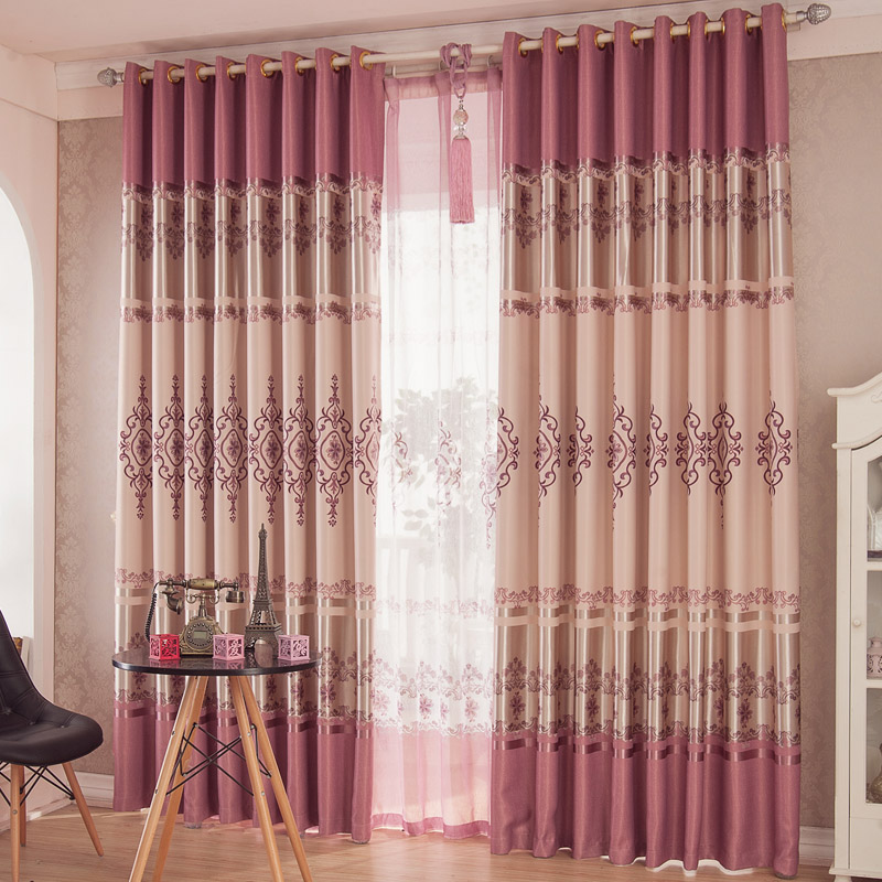Pink Printing Curtains Flowers Bedroom Curtains Decorative Pattern Shade  Curtains And Tulle