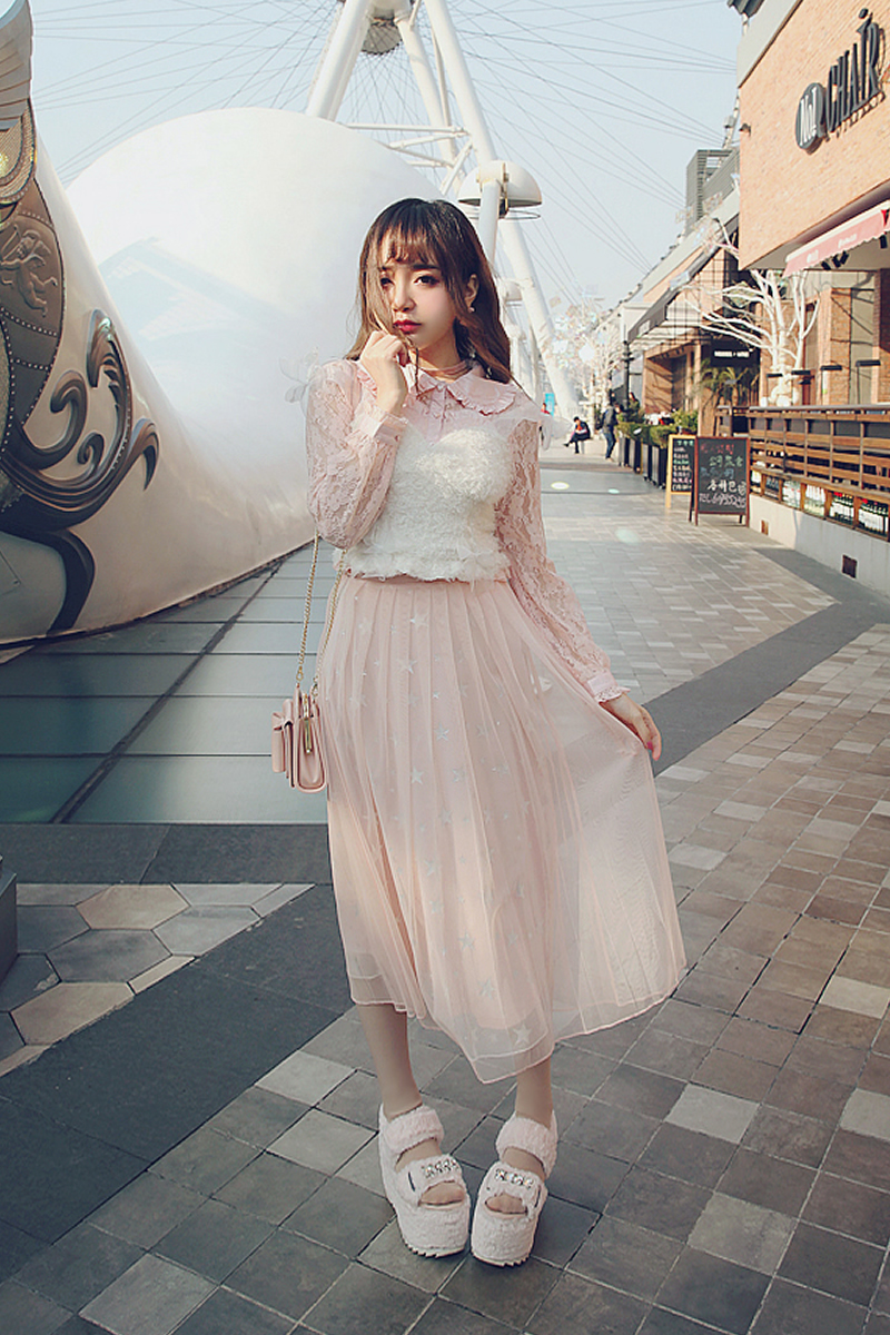 Princess sweet lolita Sling Bobon21 young girl stacked with blouse glass yarn, bow, soft, waxy, small cute, lovely corset T1443