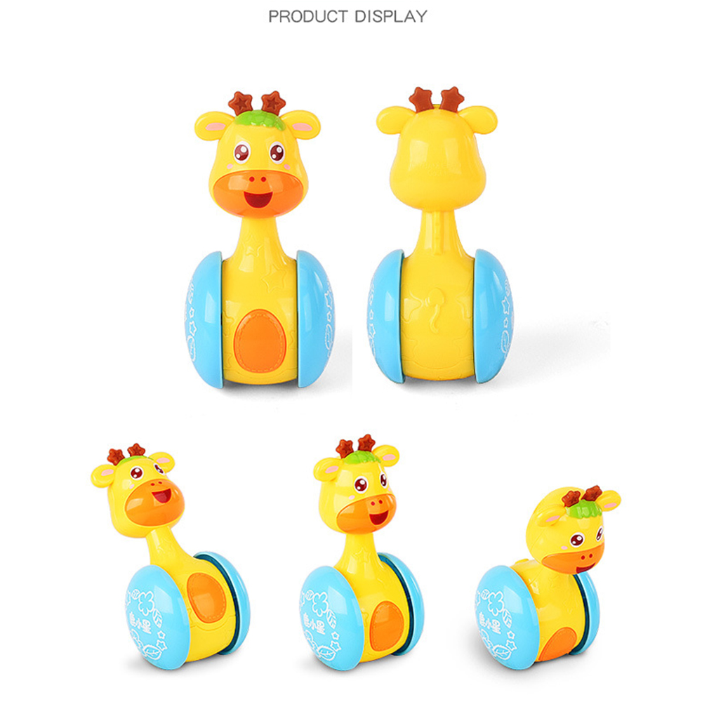 Baby Teether Shaker Tumbler Kawaii Rattles Deer Cute Doll for Children Musical Instrument Mini Animals Learning Education Toys (14)