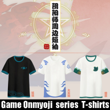 Stock 3 figures 100% Cotton Game Onmyoji Summer Top Tee cosplay t-shirt Men's tshirt