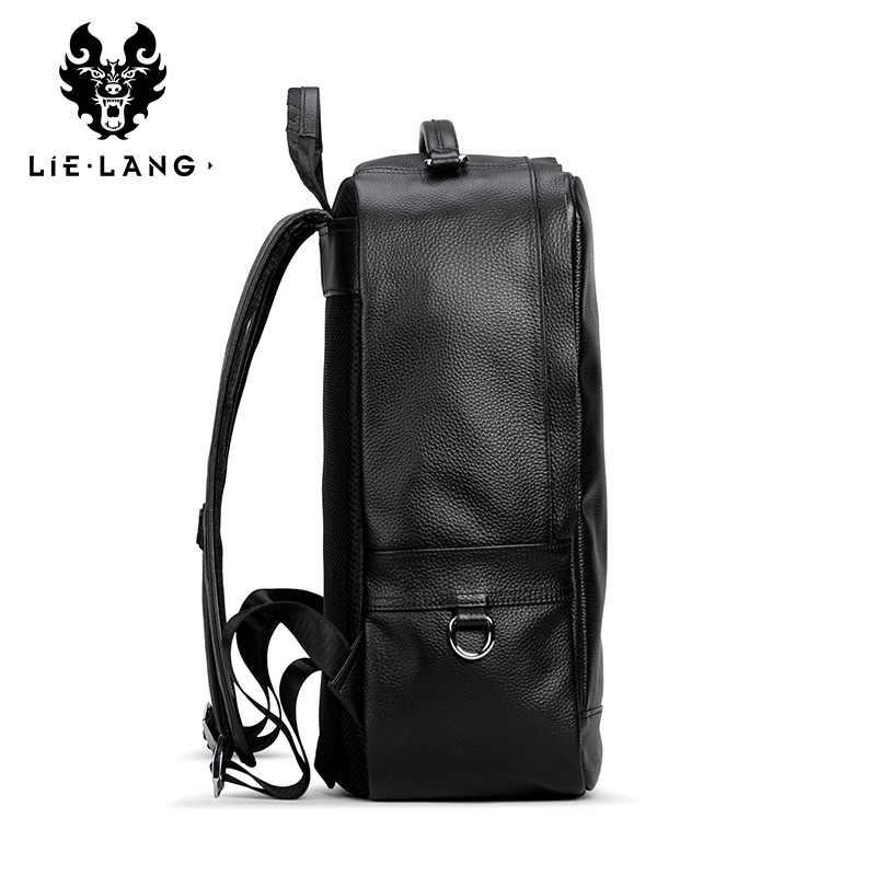 2c2f33cbd605 ... LIELANG 2018 Новая мужская сумка из натуральной кожи рюкзак через плечо  модная трендовая Молодежная кожаная сумка ...