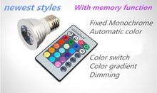 10PCS remote control Discoloration Spotlight E14 discolor E27 Spotlight MR16 RGB Spotlight GU5.3 GU10 IR control discolour B22