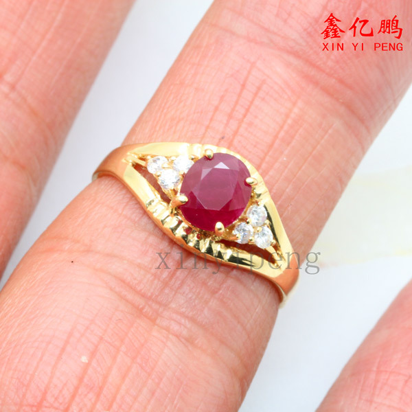 18 k gold, platinum natural ruby ring women give valuable color more than 1 carat gem The real thing to send mother 4
