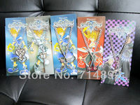 10 pcs/lot Kingdom Hearts necklace crown Anime Game kingdom hearts keyblades cosplay pendants 5 styles for gift free shipping