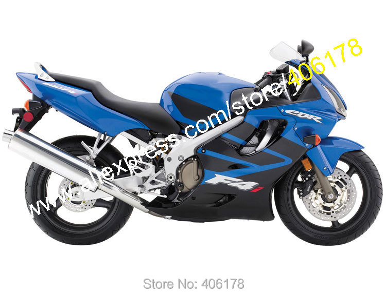Hot Sales,Body Work For Honda CBR 600 F4i 2004-2005-2006-2007 CBR600 04-07 Blue Black ABS Motorcycle Fairing (Injection molding) aftermarket free shipping motorcycle parts custom aluminium cluctch cover for 2004 2005 2006 2007 honda cbr 1000rr black