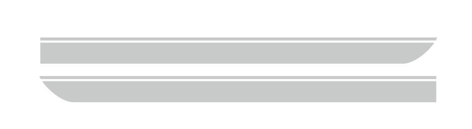 Для BMW MINI CooperS F55 F56 F54 R55 наклейки для боковой юбки автомобиля Аксессуары для кузова подходят на 3-5 дверей Спортивные полосы наклейки - Название цвета: Серебристый