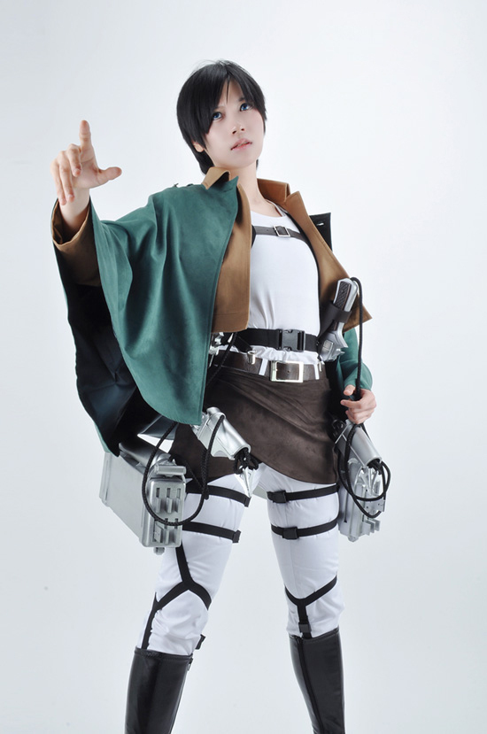 Free Shipping Attack on Titan Eren Jaeger The Recon Corps Uniform Outfits Anime Cosplay Costume(No 3-D Maneuver Gear)