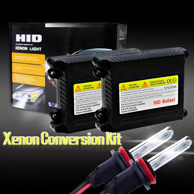 купить H8/ H9/ H11 Replace Xenon Hid Car Xenon Headlight Kit Dc 12V 35W 4300K Hid Xenon Car Head Light Headlight Bulbs Light Source недорого