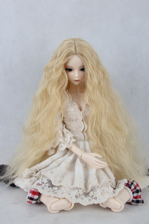 BJD / SD Doll Wig And Uncle / Girl Cut Long Curly Noodles  Chloe, 1/3 1/4 1/6