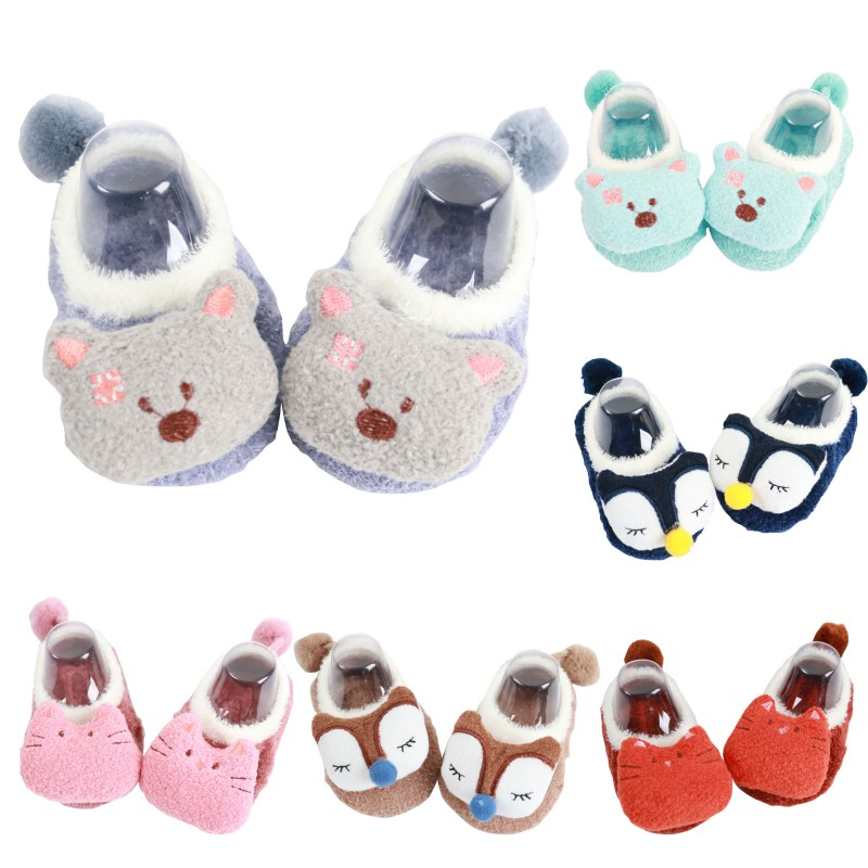 Baby Socks Toddler Indoor Sock Shoes Newborn Winter Thick Cotton Baby Girls Sock With Rubber Soles Infant Animal Sock Fashion