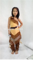 Free Shipping Children Pocahontas Native American Indian Fancy Dress Costume