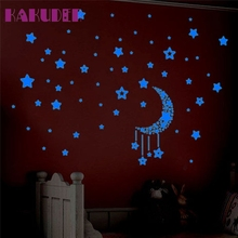 Kakuder Wall Stickers Decal Glow In The Dark Baby Kids Bedroom Home Decor Stars Luminous Stickers
