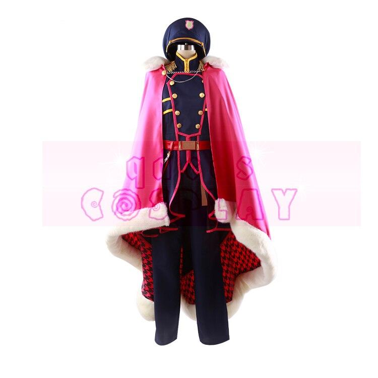 Anime IDOLiSH7 Re vale NO DOUB MOMO Gothic Military Uniforms Cosplay Costume Full Set Custom made