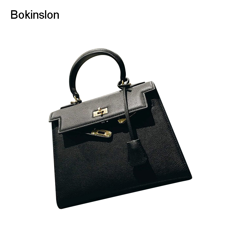 Bokinslon Women Crossbody Bags PU Leather Fashion Bag Woman Shoulder Solid Color Casual Handbags Lasies No Accessories 2017 casual women handbags chain bag rabbit bunny ears cute shoulder bags crossbody bags pu leather spring young woman handbags