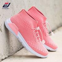 FANDEI spring women running shoes sport shoes breathable mesh women sock sneakers sport walking shoes zapatillas hombre MID Cut