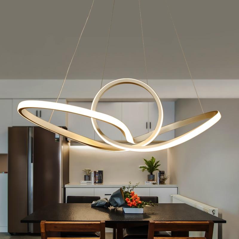 Modern led pendant lights for dining living room Kitchen Room Aluminum cerchio anello lampadario hanging pendant lamp Fixtures
