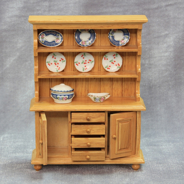 1 12 Wood Miniature Dollhouse Kitchen Furniture Classic Doll House