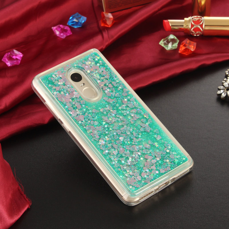 Soft Case For Xiaomi Redmi Note 4x / Redmi note 4 note 3 pro / redmi 4 pro 4X 4A Dynamic liquid Glitter Quicksand TPU back Cover