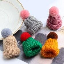 19 цветов Милая Мини вязаная Hairball брошь «шляпа» шпильки свитера значок Воротник Одежда Аксессуары креативные кепки булавки броши для женщин