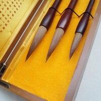 3 шт./компл. Топ китайской каллиграфии кисти ласка волос живопись кисти Вода цвет для художник каллиграфия best подарок искусство питания