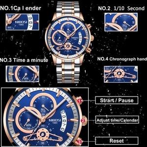 Image 3 - NIBOSI or montre hommes Relogio Masculino haut de gamme marque militaire Sport Quartz horloge mâle automatique Date affaires Reloj Hombre