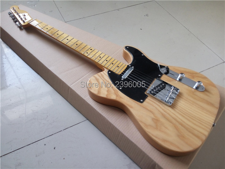 Chinese factory direct tele electric guitar,ash wood body,natural glossy finish.free shipping image