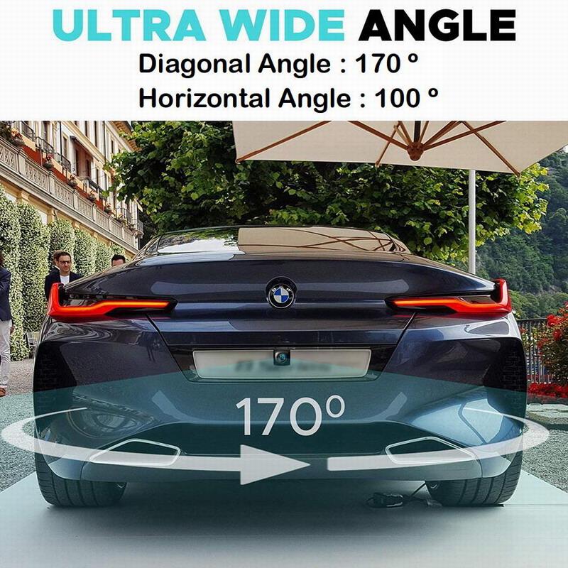 HD cámara de visión trasera de coche 170 grados de ángulo 2
