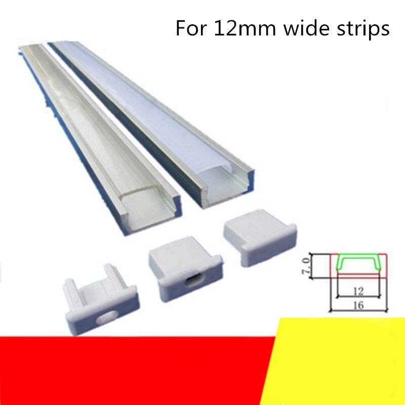 10-20 Sets Of Embedded Led Light Strip Aluminum Slot 1m Long Line Decorative Aluminum Alloy Slot Suitable For 12mm Light Strip