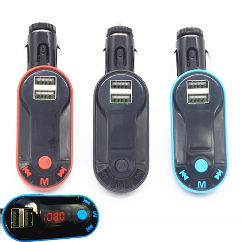 Новая горячая Распродажа автомобиля Bluetooth Беспроводной fm-передатчик MP3 плеер Handsfree Car Kit USB TF SD музыка играет прикуривателя ...