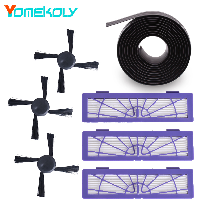 Vacuum Cleaner Spare Parts for Neato BotVac 70e 75 80 85 D75 D85 Vacuum Accessories Kits Side Brush Hepa Filters Magnetic Strip цены онлайн
