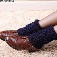 Knit Leg Warmers for Women Crochet Gaiters Patterned Boots Knee Socks