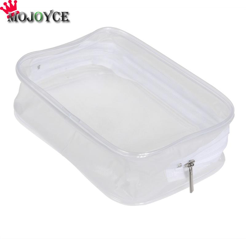Environmental Protection PVC Transparent Cosmetic Bag Women Portable Plastic Waterproof Zipper Makeup Organizer Case