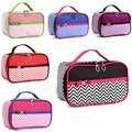 2017 New Arrival Makeup Bag Floral Zipper Portable Cosmetic Case Womens Beauty Stripe Fashion Travel Bag PouchFree Shipping P456