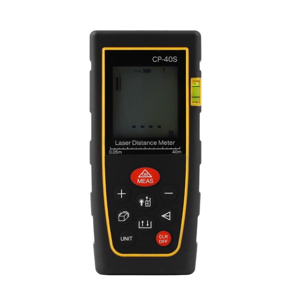 40M Handheld Digital Laser distance meter font b Rangefinder b font Range finder Bubble level Tape