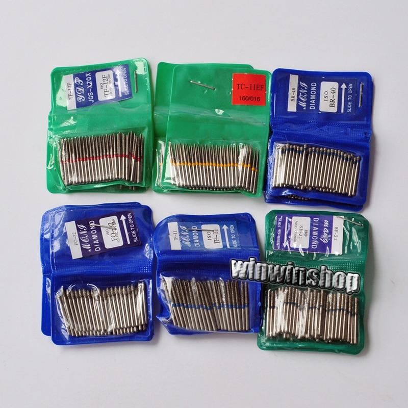 alta velocidade dental dos burs fg do diamante para lustrar a serie 1 6mm de alisamento