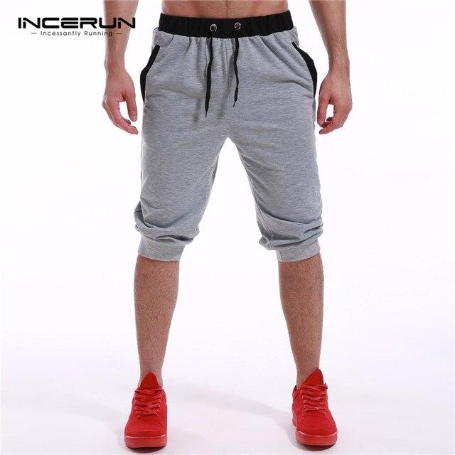 cba0b83aa97089 INCERUN 2019 męskie marka odzież lato długości łydki męskie bermudy  biegaczy siłownie odzież krótkie spodnie dresowe