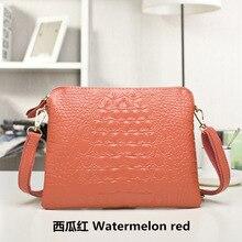 Натуральная кожа женская сумка маленькая сумка Мода склонны один сумка новые туфли в индивидуальном стиле аллигатора узор дамская сумочка(China)