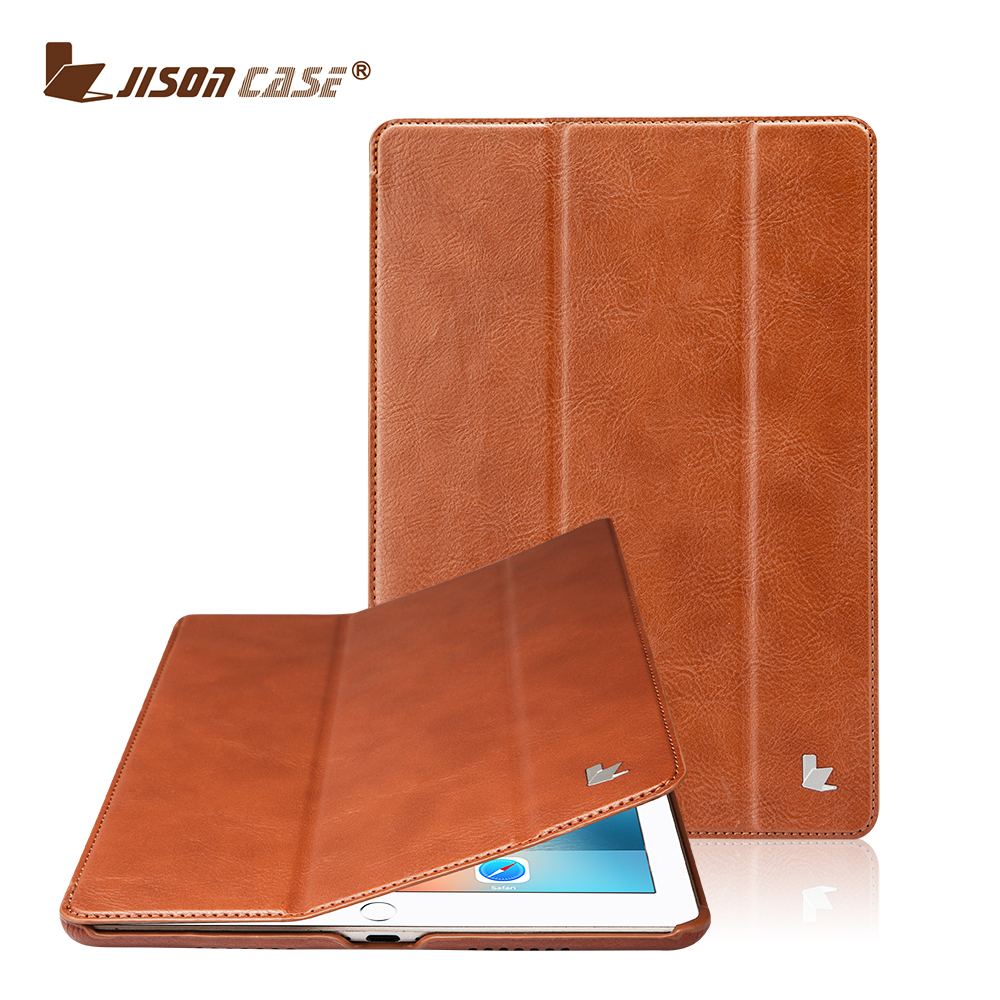 Jisoncase for iPad Pro 9.7 Flip Case PU Leather Luxury Plain Funda for iPad Pro 9.7 Smart