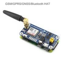 SIM868 GSM GPRS GNSS Bluetooth 3.0 HAT for Raspberry Pi 2B/3B/Zero/Zero W Support SMS Phone Call CP2102 UART WS0005