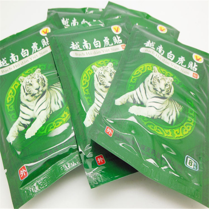 все цены на 40pcs Vietnam Creams White Tiger Balm Meridians Patch Body Massage Lumbar Pain Relief Cervical Spondylosis Balm Plaster