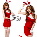 Sexy Bunny Women Animal Rabbit Lady Erotic Nightwear Costumes with Ears Lingerie Sets Party Clothing Mini Dress z10