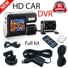 2017 Новый Камеры Приборной Панели Автомобиля DVR HD 1080 P с Двумя Объективами Автомобиля Видео Запись Датчик G