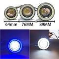 """Hotest 2.5 """"/3"""" 3.5 """"LED COB DRL Daytime Running Luz Fog Lente Do Projetor Olho Anjo Carro Styling"""