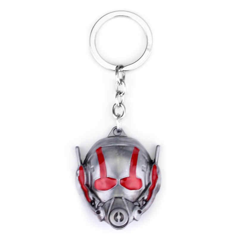 Marvel Movie Ant Người Đàn Ông Keychain Thời Trang The Avengers Endgame Siêu Anh Hùng Ant người đàn ông Mặt Nạ Kim Loại Người Giữ Chìa Khóa Xe Mặt Dây Chuỗi Trang Sức Quà Tặng