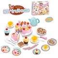 54 unids diy pastel de cumpleaños de corte 5.5 pulgadas niños niños bebé temprano educativo del juguete clásico pretend play cocina comida de plástico juguete